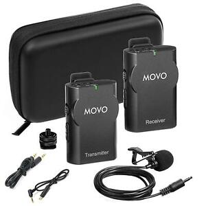 Movo WMIC10 2.4GHz Wireless Lavalier Microphone System for GoPro up to 15m Range