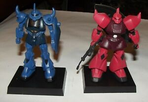 1990'S 2 BANPRESTO GUNDAM FIGURES ON STANDS IN VGC