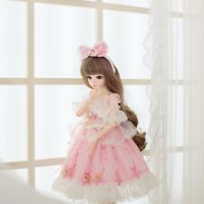 60cm BJD Doll 1/3 Beautiful Girl Dolls Free Face Makeup Wig Clothes Eyes Gift