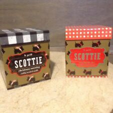 LE PETIT SCOTTIE DW HOME CALIF. CANDLES CHRISTMAS MORNING OR COZY BY THE FIRE