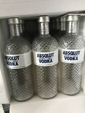 3x ABSOLUT VODKA 1 Liter Show Flasche Leer Empty Display Bottle Deko Glimmer