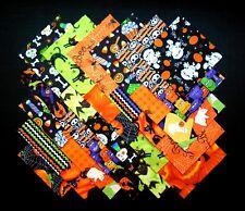"HALLOWEEN PRINTS 5"" Squares, 100% cotton Prewashed  Quilt Block Fabric  (#122C)"