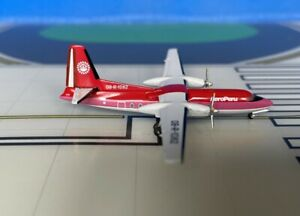 AeroPeru Fokker F-27-600 OB-R-1082 final colors 1/400 diecast Aeroclassics