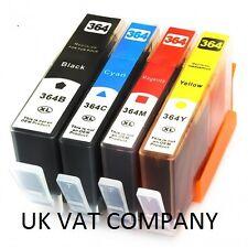 NOW INK 4 CHIPPED INK FOR HP 364 XL 5515 C309a C410 B109a B110a B209a B210a