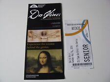 Da Vinci The Genius Exhibition Cincinnati Museum Center Programa Ticket Sub Set