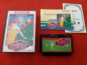 Side Pocket Snooker Pool Namco Famicom Nintendo Nes Ntsc-Jap Complete Tbe