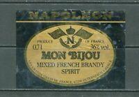 France Brandy Napoleon BOTTLE LABEL Original