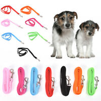 "48"" length durable nylon dog pet long leash lead for small dogs 0.59"" width FG"