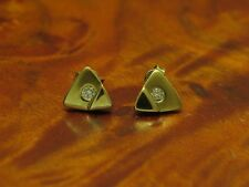 14kt 585 Yellow Gold Studs with 0,10ct Brilliant Decorations/Diamond/Ohrringe