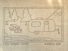 New listing Whimsy Rugs Rug Hooking Pattern - Cozy Camper - 14 x 24 on Linen