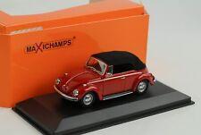 Vw Maggiolino Cabriolet 1302 Volkswagen Rosso con tetto 1970 1 43 Minichamps