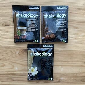 NEW SHAKEOLOGY Beachbody Individual Packets 3 Barista Variety Whey