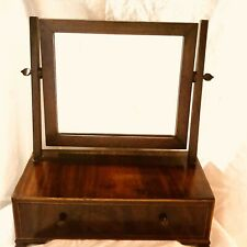Antique Shaving Mirror With Wood Inlay