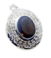 exquisite Rauchquarz 925 Sterling Silber braun Anhänger echten Schmuck DE Gesche