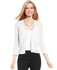 Tunic Cardigan Sweater NEW Womens Medium Large White Beige Charter Club M66