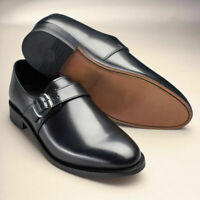 Samuel Windsor Mens Shoes Classic Monk Genuine Leather Slip On Buckle Size 5-14