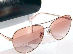 NEW* COACH ROSE GOLD 58mm Aviator w Rose Gradient Womens Sunglass L1085 HC7099