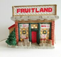 Christmas Village Grocery Store Fruitland Lighted Ceramic Building 1995