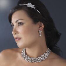 Nuptiale mariage cristal collier boucle d'oreille bijoux set LUXE Parti demoiselle d'honneur