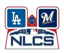 2018 NLCS TEAM PIN LOS ANGELES DODGERS MILWAUKEE BREWERS WORLD SERIES PLAYOFFS P