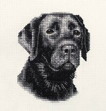 BLACK LABRADOR RETRIEVER dog, puppy * ~ * Full counted cross stitch kit