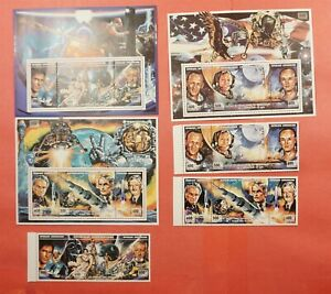 1994 CENTRAL AFRICAN REPUBLIC SPACE S/S + STRIPS MNH