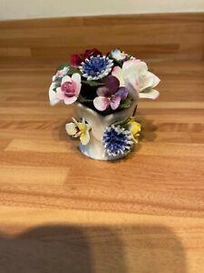 royal doulton floral posy fine bone china flowerpot ornament figurine