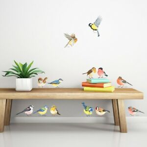 Decowall DS-8038 Little Birds Kids Wall Stickers Removable Decals