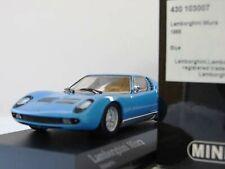 WOW EXTREMELY RARE Lamborghini Miura P400 1966 Riv.Blue 1:43 Minichamps-Countach