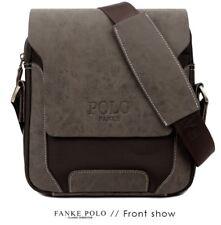 Large Brand New Leather Polo Men's Crossbody Shoulder Messenger Bag Handbag