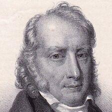 Portrait XIXe BENJAMIN CONSTANT Suisse Lausanne Libéralisme Romantisme 1848