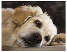 artav Golden Retriever 11 Art Print Dog Puppy Painting