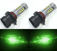 LED 80W 9005XS HB3A Green Two Bulbs Head Light High Beam Replace Show Use