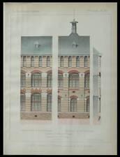 SCEAUX, LYCEE LAKANAL - 1886 -  PLANCHE ARCHITECTURE - ANATOLE DE BAUDOT