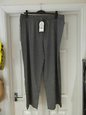 Size XL Palazzo Pants NWT by Originals in Black/White Zig Zag Print Wide Leg
