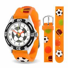 Wrist Watch 3D Orange Wristband All Star Baseball Soccer Football