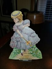 1880s Trade Card Doll Estey Organ Co Brattleboro Vt. MIDDLEBURG LITTLE BO PEEP