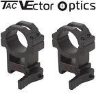Vector Optics Tactical 30mm Quick Release Rifle Scope Picatinny QD Mount Rings