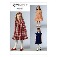 VOGUE SEWING PATTERN LITTLE VOGUE CHILDREN'S / GIRLS' DRESS SIZE 2 - 8  V9042