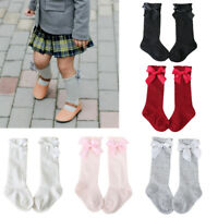 Newborn Toddler knee high sock baby Girls Boys Solid Long Socks-Acce Bow Warm