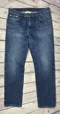 """Raleigh Denim Blue Med Wash Faded Mens 33""""x28"""" Jeans"""