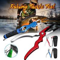 Aluminum Sea Saltwater Fishing Pliers + Gripper Cutter Split Ring Scissors Braid