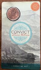 2016 $1 convict love token - copper coin forget me not
