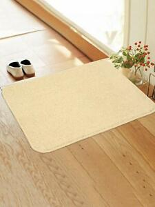 Soft Anti slip Kitchen/Door Mat With Latex Rubber Backing (45X65 CM)-Ivory Color