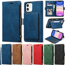 Zipper Cover Wallet Leather Flip Case For iPhone 12 Pro 11 XS Max XR 6 7 8 Plus
