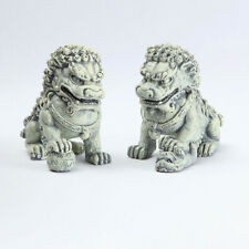 Miniature Dollhouse Fairy Garden - Foo Dog Stakes - Set of 2 - Accessories