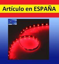 ROJA Luces LED COCHE ACUARIO 120cm tira iluminacion pecera ROJO 12V 60 leds