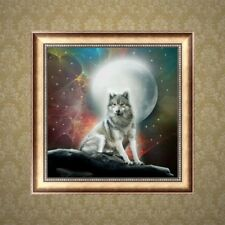 DIY 5D Diamond Wolf Embroidery Painting Cross Stitch Home Decoration Craft
