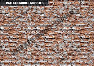 1:18 scale (3xA4) Garage brick wall - Peel and Apply set 110