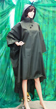 Gelert German  PVC / nylon raincoat cape rubbery feel hood fettish t/v